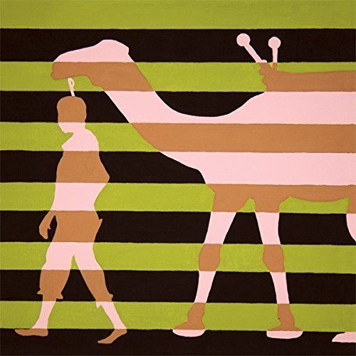 """(18x18) Camel Art Poster Print. """"Camel in Tow"""" is a poster print of a handmade painting by Shannon Foley Henn. It is available in a limited edition signed poster. Custom painted pieces also available upon request."""