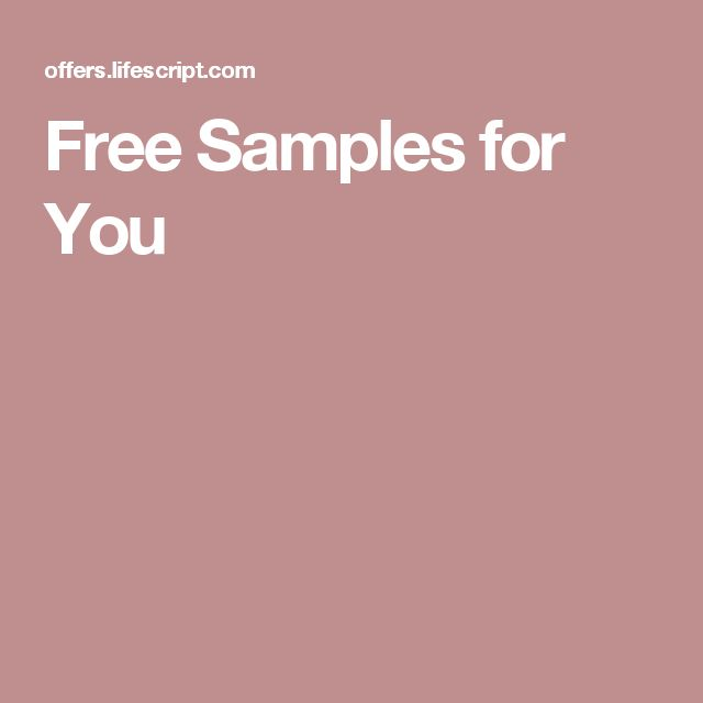 Free Samples for You