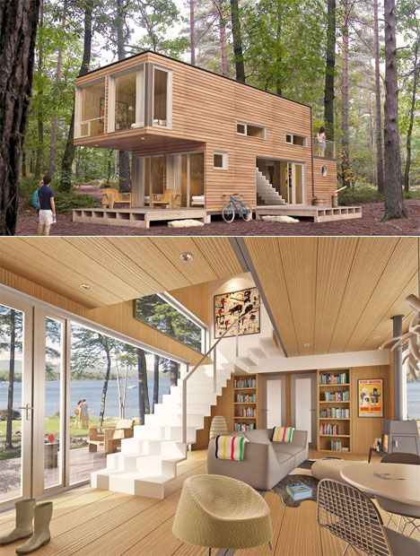 142 best images about container houses and cottages on for Inexpensive lakefront property