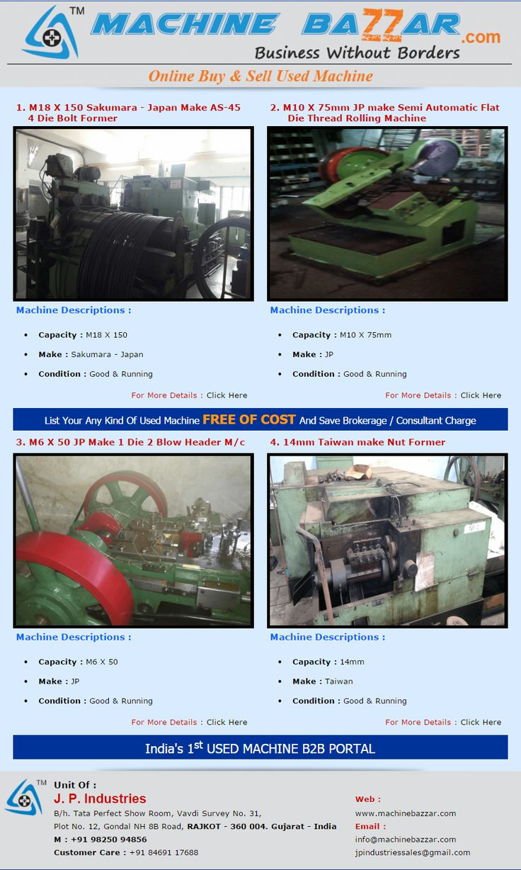 Over Newsletter For More Detalis:-http://machinebazzar.com/jpmail/Fast%201-2016/