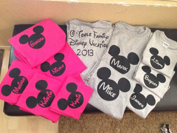 Disney Vacation shirt with saying on the back by favor8things