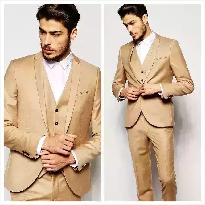 Gold Morning Wedding Suits Handsome Slim Fit Mens Suits Groom Tuxedos Custom Made Formal Prom Suits Jacket+Pants+Vest+Tie Man Wedding Suit Mens Black Tie From Wedding_present, $83.22| Dhgate.Com #menweddingsuits