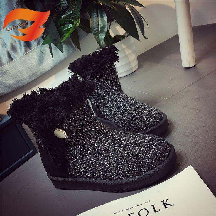 Новый Лодыжки Теплые Черные Серые Сапоги Короткие Плюшевые Женщины Снег обувь Для Женщин Зимой Утолщаются Искусственный Плюс Размер 35-40 Теплый обувь