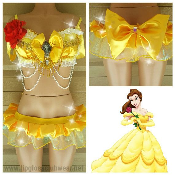 Ready To  Ship Top Size D/DD Cup, Princess Belle Costume, Women Costume,Rave Wear, Sexy Belle Costume, Halloween Costume, Disney Princess