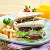 TRIPLE DECKER SANDWICH http://www.sajiansedap.com/recipe/detail/11398/triple-decker-sandwich
