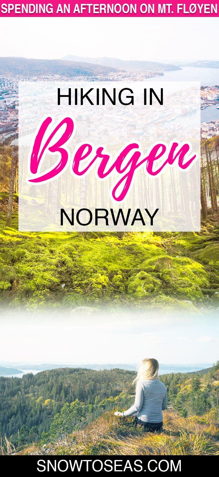 Hiking in Bergen, Norway Pin