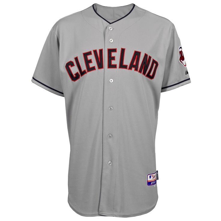 Cleveland Indians Authentic COOL BASE Road MLB Baseball