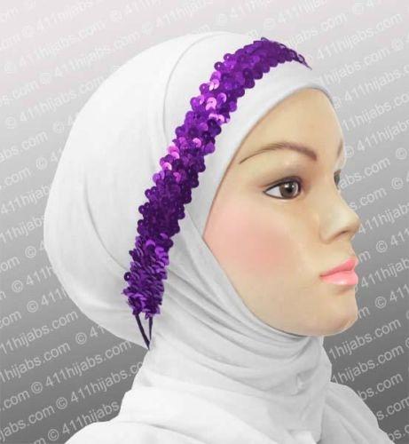 EID Fashion Accessories Online Sequin Hair Headband with elastic in #6 Purple | eBay