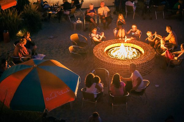 the end of the rehearsal dinner-Fire pit at The Rusty Nail #caperesortswedding #nicolemillerbridal