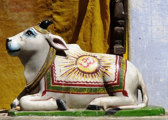 Nandi - The Bull which Shiva rides and gatekeeper of Siva and Parvati in Hindu mythology