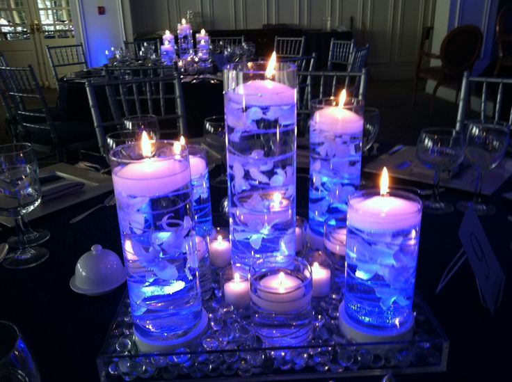 Floating Candle Centerpiece Idea for Bar Mitzvah \u0026 Bat Mitzvah Parties