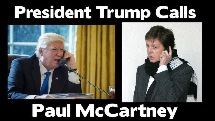 (WIRETAPPED) Donald Trump Calls Paul McCartney