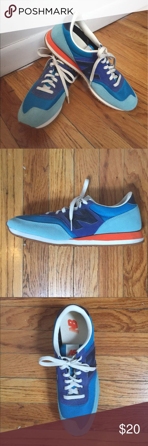 New Balance x Jcrew sneaker Multi-shade blue and orange New Balance for Jcrew sneaker in size 9 (worn once) New Balance Shoes Sneakers
