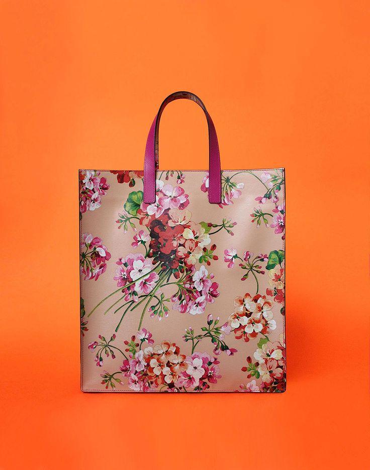 Otenberg flora print leather tote bag s2017 #otenberg #fashion