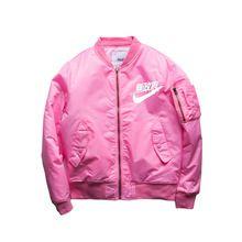 2016 calle Hip Hop Kanye West Yeezus Ma1 rosa chaqueta de bombardero Homme Yeezy temporada 3 Air Force One Fbi Anarchy Bomber leather Jacket Men(China (Mainland))