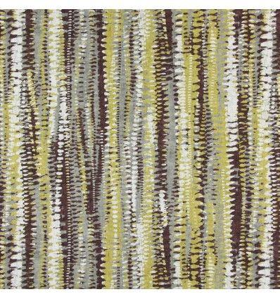 Draperie bumbac dungi maro galben 1.50m latime Prestigious, Fiji 1382-526