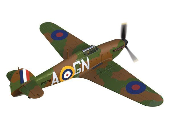 The Corgi 1/72 Hawker Hurricane Mk.I, P3576 (GN-A), Flight Lieutenant James Brindley Nicolson (VC) is a diecast model plane in the Corgi Aviation Archive (Limited Edition) range.  Although the prototype Hawker Hurricane completed its first flight only four months before the much celebrated Spitfire, it is seen by many as being from a much earlier era of British aviation and is generally not held in the same regard as its more famous stablemate. It did, however, prove to be a vital component…