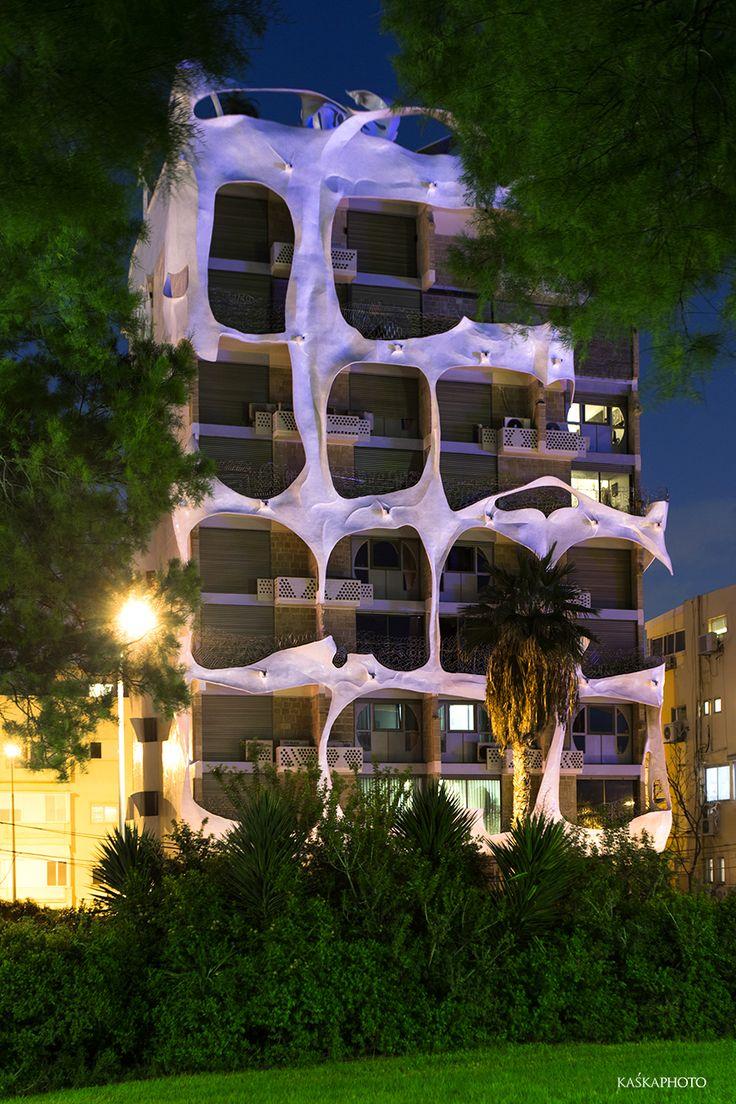 "The ""Crazy House"" Antoni Gaudi style in Tel Aviv, view from the Independence Park  Architect: Leon Gaignebet  photo Kaśka Sikora  #TelAviv #architecture #Israel #Gaudi #Sikora #realestate #realestatetelaviv #realestatephotography #luxurybuilding #KaśkaSikora #KatarzynaSikora"