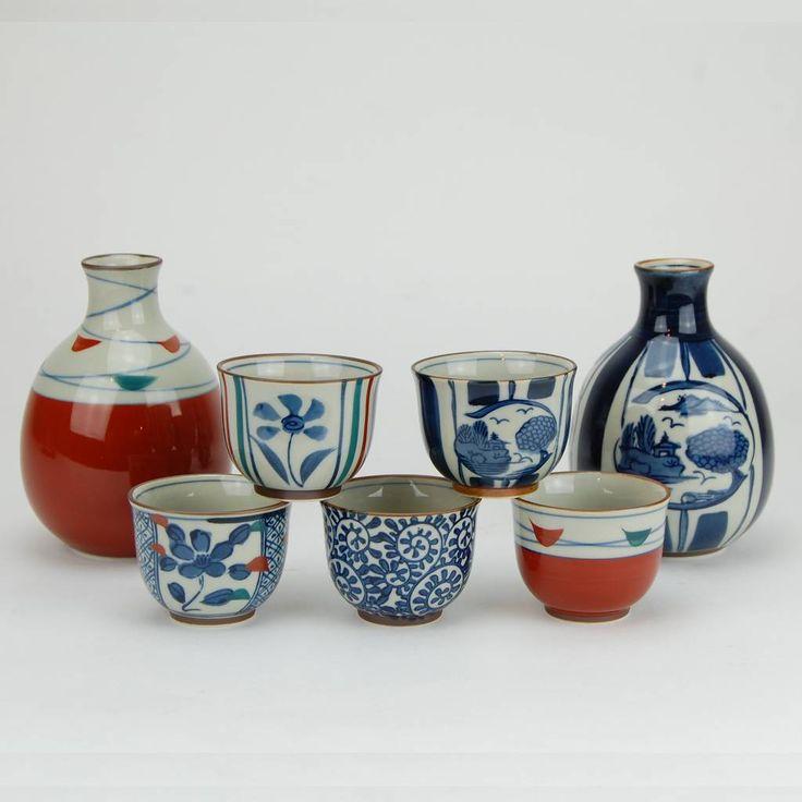 Japanese Arita porcelain Sake set - Arita Porcelain