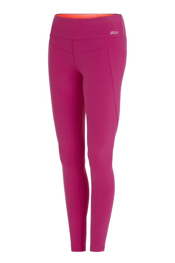 Berry Support F/L Tight | Sports-Luxe Uniquely Collection tights that are super cute, a nice change from the usual black, and it has shape wear built in = winning! #lornajane #ljfitlist
