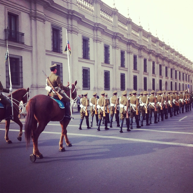 Santiago Chile. Changing of the guard.
