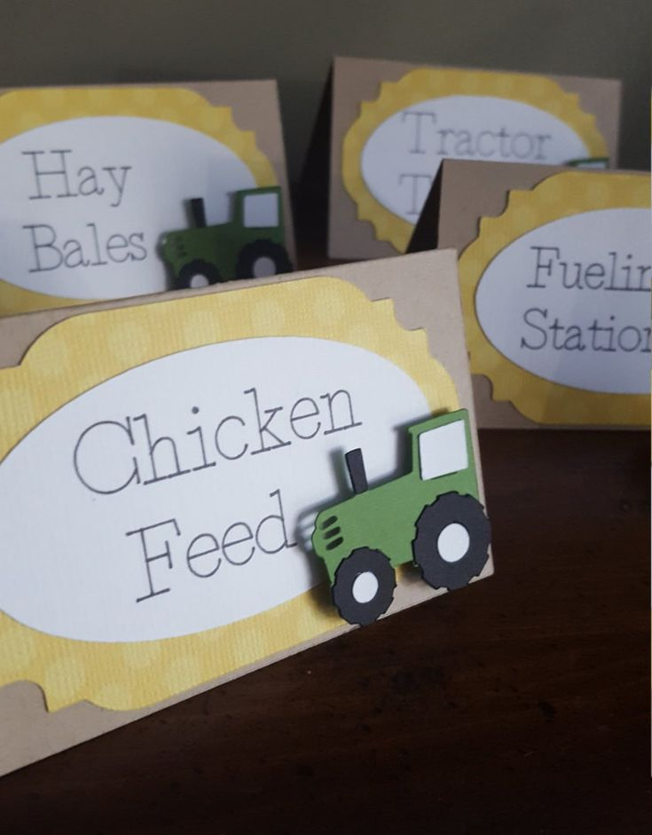 Excited to share the latest addition to my #etsy shop: tractor party food tent cards * tractor party * tractor birthday party * food signs * tractor baby shower * tractor party place cards http://etsy.me/2CLYZVe