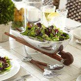 Farmhouse Chic:  Found it at Birch Lane - Wheelbarrow Salad Bowl with Servers