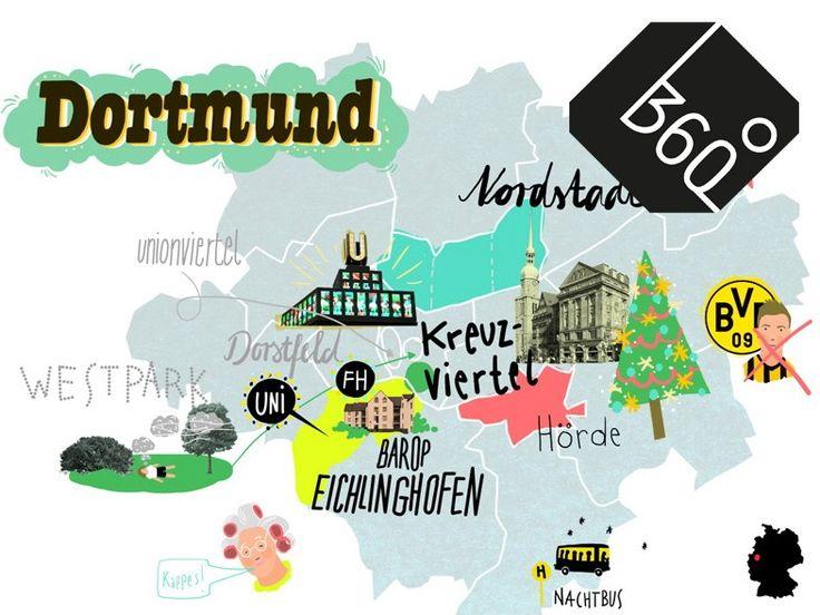 Wer zum Studium nach Dortmund kommt, hat Fragen. Etwa: Muss ich für den BVB sein? (Das sei verraten: ja.) Mehr Antworten im Studentenatlas.