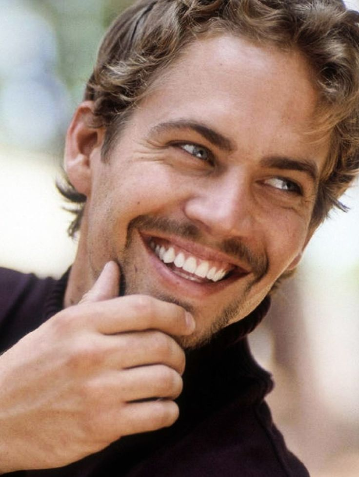 Paul Walker. He had the best smile! And the prettiest blue eyes ever! Still so upsetting!