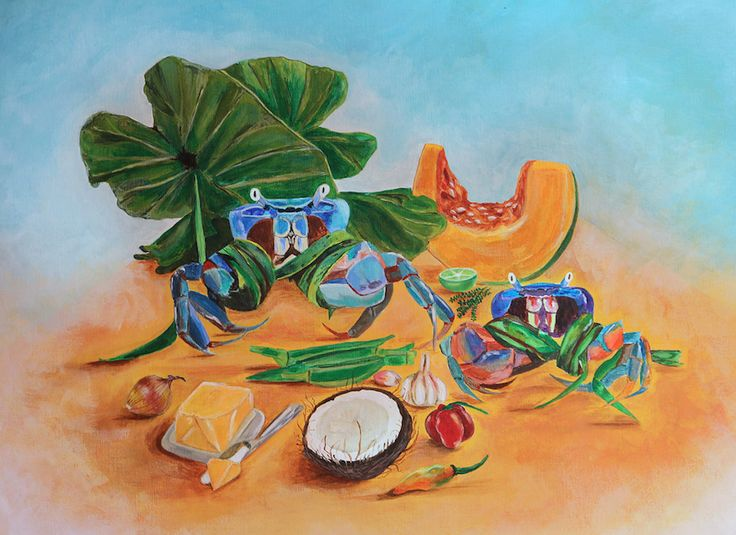 Sunday Lunch Crab Callaloo For Sale 18x24 Acrylic On Canvas This Mouthwatering Union Is A Staple And Favourite Part Of Trinidadian