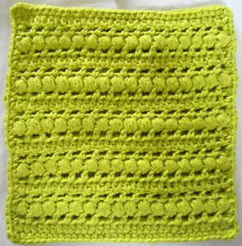Crochet Stitches Library : Puff Stitch Crochet Dishcloth By Kathleen Stuart - Free Crochet ...