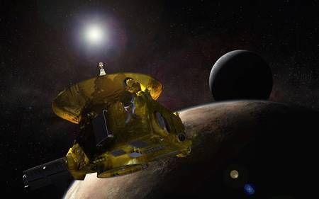 Le 14 juillet prochain, New Horizons sera la première sonde spatiale à survoler Pluton et Charon. Sa suite d'instruments collectera des données précieuses sur la géologie, la géomorphologie, la température, l'atmosphère, etc. de chacun de ces deux mondes sombres situés dans la ceinture de Kuiper. © Nasa, Johns Hopkins University Applied Physics Laboratory (JHUAPL), Southwest Research Institute
