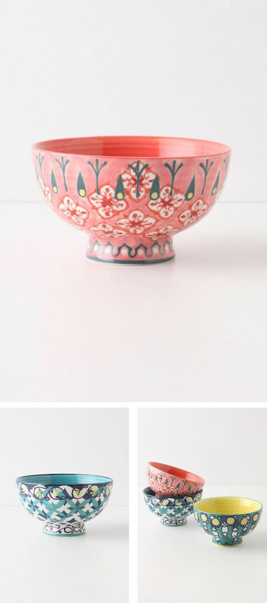 ceramic bowl. really cool patterns + colors