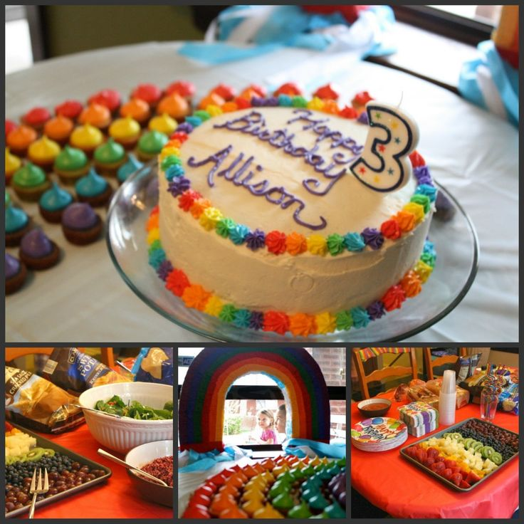 Kid's rainbow theme birthday party- this is my friend's Jenny's party for her 3 yr old- did an amazing job! Beautiful!!