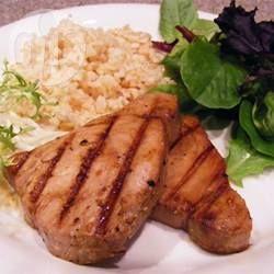 Steaks de thon teriyaki au barbecue