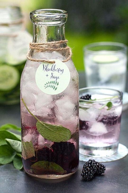Blackberry & Sage flavored water