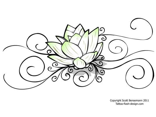 Tattoo Flower Lotus Design for