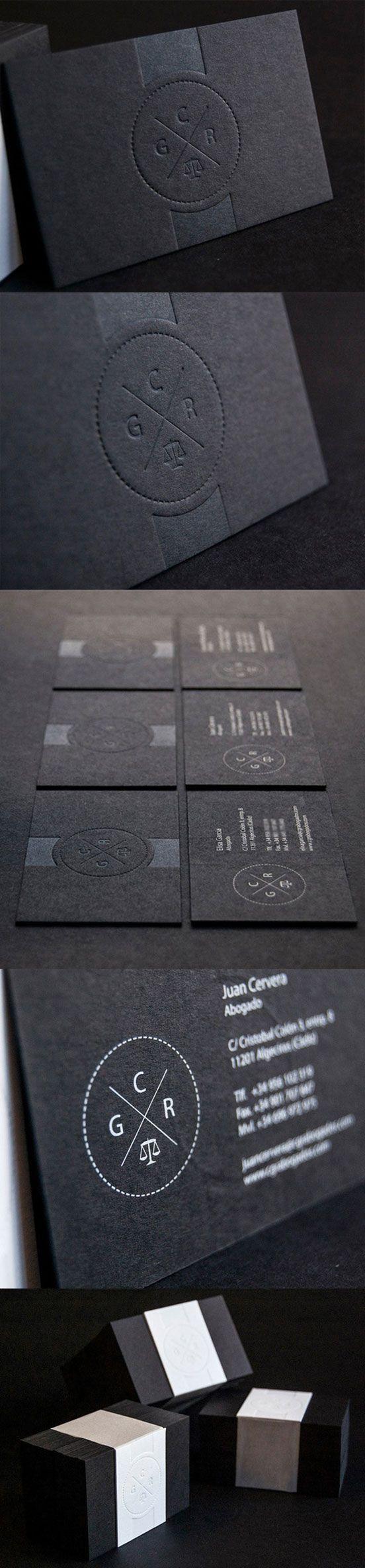 Minimalist Black Business Card