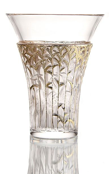 """Originally imagined and created in 1934, Lalique's crystal """"Ibis"""" vase has as its motif a mysterious and sacred bird. Description from ebay.com. I searched for this on bing.com/images"""