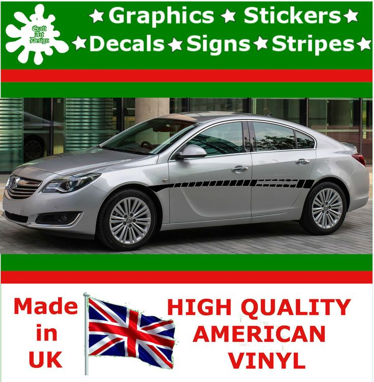 """10"""" High Car Side Stripes Graphic Decal Vinyl Stickers Van Auto Rally Race F1_34"""