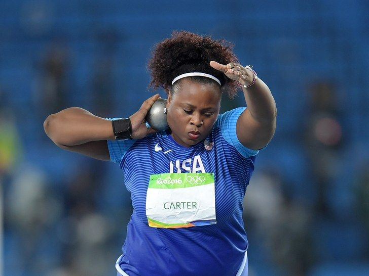 Michelle Carter at 2016 Olympics