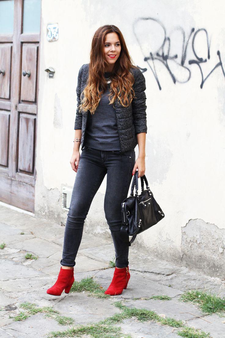 rock casual fashion outfit look fall winter 2013 2014 h m comptoir des cotonniers sarenza. Black Bedroom Furniture Sets. Home Design Ideas