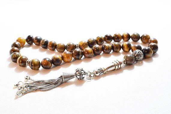 Tiger Eye Tesbih Islamic Prayer Beads 33 Beads Tasbih