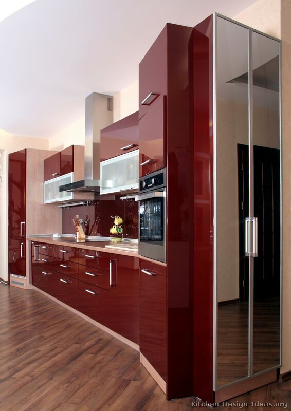 Modern Red Kitchen Cabinets 02 Kitchen Design Ideas Org Home In