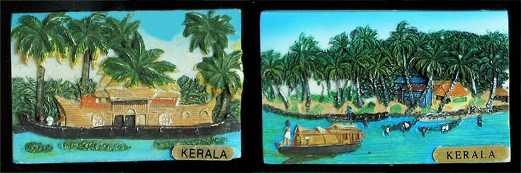 Landscape of Kerala - Set of Two Magnets (Poly Resin))