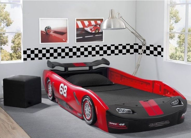 delta childrens red turbo race car twin bed kids bedroom furniture new deltachildren