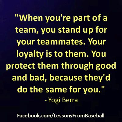Baseball Quote - Check out our website for expert advice, tips, downloads and more about #baseball and other subjects at: http://lessonsfromexperts.com (Baseball's website coming soon, but you can also check out baseball and other sport stories at http://lessonsfromsports.com). Visit us on Facebook: http://Facebook.com/LessonsFrombaseball; and Twitter: @LessonsBaseball