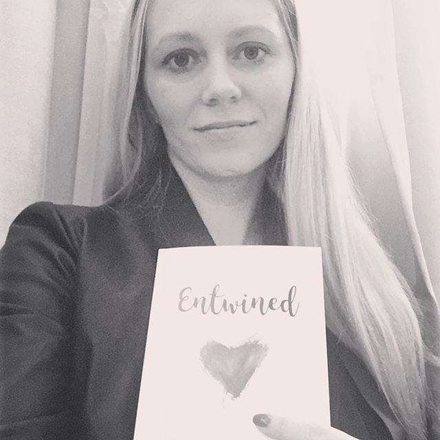 My first poetry book Entwined so happy to have it published! 😊❤️ went to eat out with the family to celebrate its release! #poetry #poems #book #books #love #happy #published #be #photography #selfie