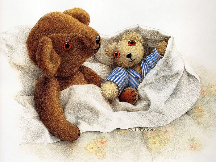 Jane Hissey : Hoot, Lovely Stuffed Animals  - Little Old Bear - Heartwarming illustrations of Teddy Bear 5