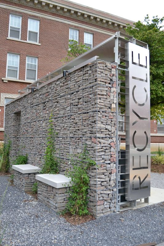 University of Memphis Department of Architecture | Recycling Zone.  Our rocks would be rounder
